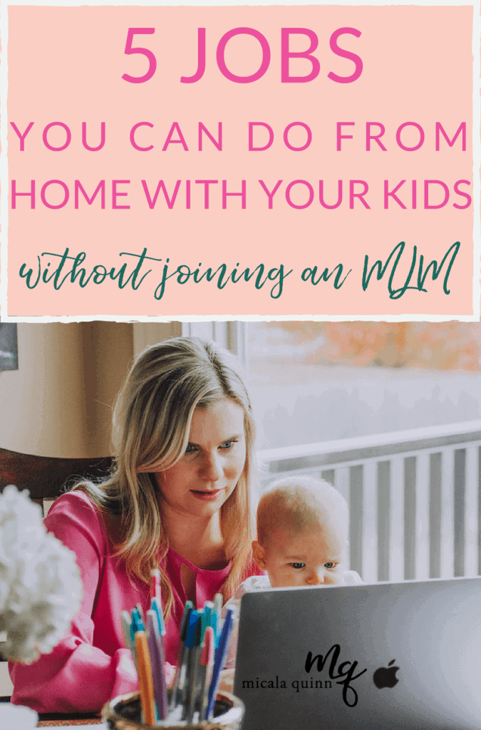 5 Jobs You Can Do From Home With Your Kids To Earn Extra Money. Whether you are a working mom or stay at home mom freelancing could be the right career for you! Check out my 5 favorite jobs and services you can offer to grow you own virtual assistant business and become a work from home mom! #workingmom #stayathomemom #motherhood