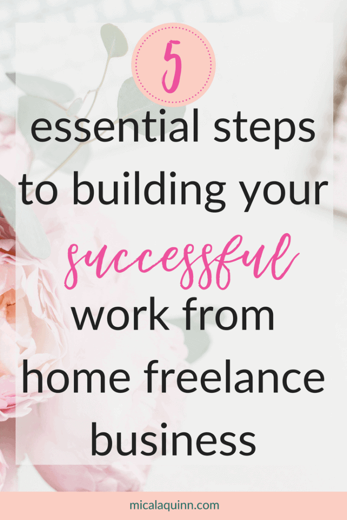 5 simple steps to building your virtual assistant business from home. Do you want to earn money online while being at home with your kids? This post is for you! Learn how to successfully make money as a work from home mom! #workingmom #stayathomemom #virtualassistant #growyourbusiness