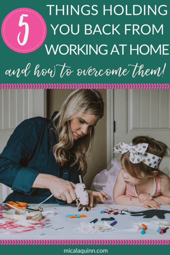 Do you want to earn money from home with your kids and quit your 9-5? These are the top 5 things I see holding moms back from earning money online - and tips how to overcome them! Click here to learn how to launch your freelance virtual assistant business today! #workingmom #stayathomemom #virtualassistant