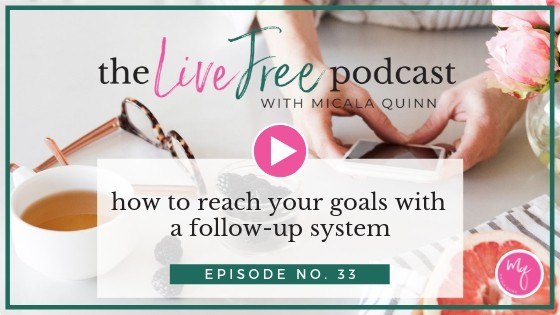 33: How to reach your goals with a follow-up system