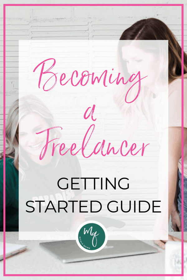 Two women learning about becoming a freelancer