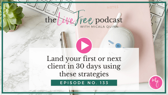 Land your first or next client in 30 days using these strategies
