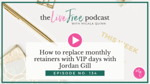 How to replace monthly retainers with VIP days with Jordan Gill