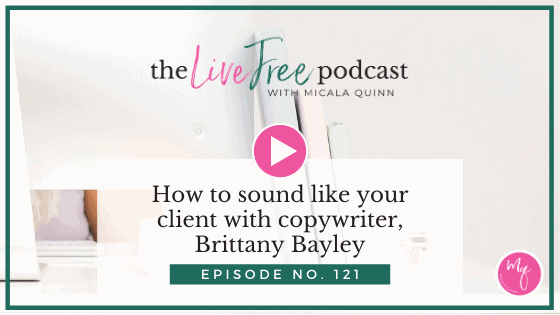 121: How to sound like your client with copywriter, Brittany Bayley