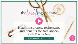 Health insurance, retirement, and benefits for freelancers with financial services professional, Marisa Nor