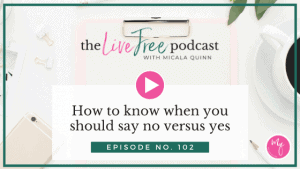 How to know when you should say no versus yes