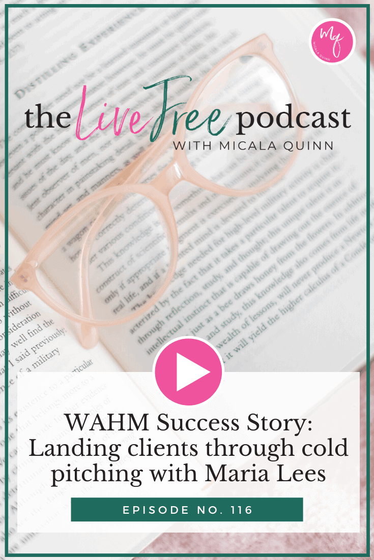 WAHM Success Story: Landing clients through cold pitching with Maria Lees