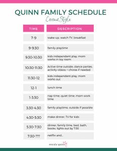 remote work schedule with kids